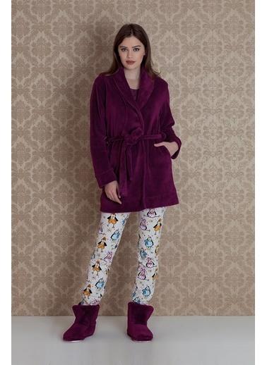 Hays Sabahlıklı Pijama Takım Mürdüm